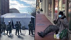 Vašingtono benamiai buvo išvaryti iš miesto centro – prieš J.Bideno inauguraciją sustiprintas saugumas