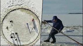 Senjoras Estijoje sukūrė nematytą ledo karuselę – linksminasi visas kaimas