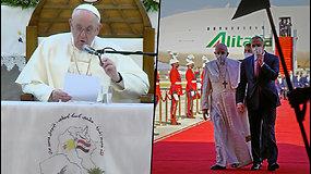"""Istorinis vizitas – popiežius Pranciškus aplankė karo nualintą Iraką: """"Vykstu ten, kaip taikos piligrimas"""""""