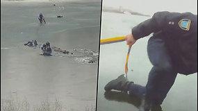 Sulaukė lemtingo skambučio – iš po ledo ištraukė tris vyrus ir paauglį