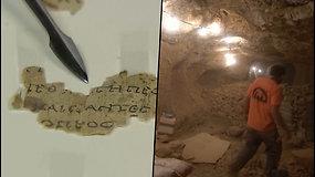 Istorinis radinys: Izraelio archeologai atkasė Biblijos fragmentus