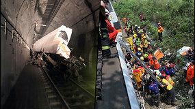 Kraupi nelaimė Rytų Taivaine: nuo bėgių nulėkė traukinys, kuris vežė 350 keleivių