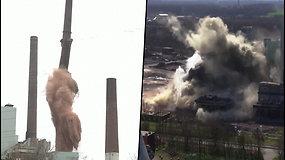 Po galingo sprogimo elektrinė subyrėjo į gabalus – prireikė 420 kg sprogmenų