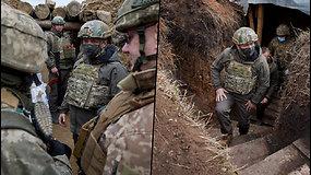 Donbase žuvo dar vienas Ukrainos karys – V.Zelenskis išvyko į konflikto zoną