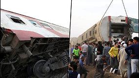 Egipte nuo bėgių vėl nulėkė traukinys – žuvo mažiausiai 11 žmonių, beveik 100 buvo sužeisti
