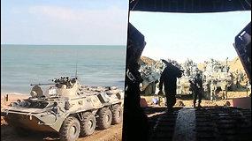 Rusijos kariai traukiasi nuo Ukainos sienų – Maskva kaltinama siunčianti karių ir ginklų į Donbasą