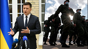 V.Zelenskis kviečia V.Putiną susitikti Rytų Ukrainoje – konflikto zonoje žuvo jau 30 ukrainiečių karių