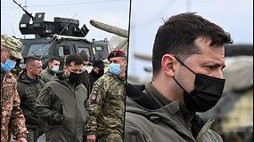 """V.Zelenskis ragina karių neprarasti budrumo: Rusijos kariai gali sugrįžti """"bet kurią akimirką"""""""