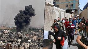 Izraelyje nuaidėjo apie oro pavojų perspėjančiossirenos – žmonės panikoje bėgo į bunkerius