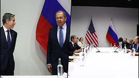 Kremlius įvertino JAV ir Rusijos derybas: tolesnis abiejų šalių dialogas nebus lengvas
