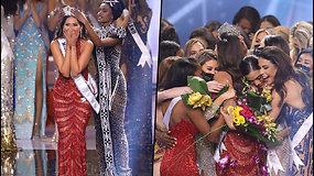 """Išrinkta """"Miss Visata"""" grožio konkurso nugalėtoja – moteris su džiaugsmo ašaromis akyse perėjo podiumą"""