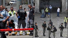Jeruzalėje užpuolikas subadė du jaunus vyrus – policija jį nušovė