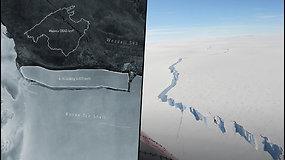 Nuo Antarktidos atskilo didžiausias pasaulyje ledkalnis –  jo ilgis siekia maždaug 170 km