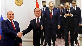 """Rusija išplės transporto ryšius su Baltarusija – tokiuose sprendimuose """"nebūtų jokios politikos"""""""