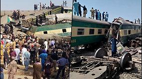 Pakistane susidūrė du traukiniai – naktį aidėjo pagalbos šauksmai