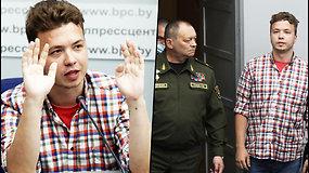Romanas Protasevičius dalyvavo Baltarusijos valdžios spaudos konferencijoje: niekas manęs nemušė
