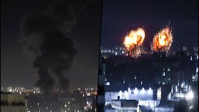 Izraelis atsakė į palestiniečių paleistus padegamuosius balionus – smogė taikiniams Gazos Ruože