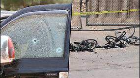 Dviratininkų lenktynės baigėsi šaudynėmis – gatvėje mėtėsi šalmai, batai ir sulaužyti dviračiai