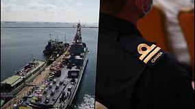 Juodojoje jūroje prasideda JAV ir Ukrainos karinės pratybos – Rusijos kariai jas įdėmiai stebės