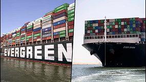 """Laivas """"Ever Given"""" išplaukė iš Sueco kanalo po 3 mėnesių arešto"""