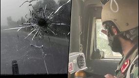 Per plauką nuo mirties – Afganistano kariai apšaudyti transporto priemonėje