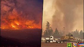 Gamtos stichija toliau baugina JAV – miške užfiksuotas ugnies tornadas