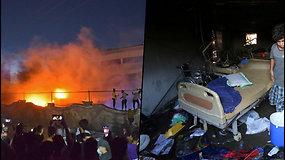 Gaisras COVID-19 skyriuje – liepsna Irako ligoninėje pražudėdešimtis žmonių
