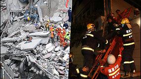 Kinijoje sugriuvo pigus viešbutis – gelbėtojai iš po griuvėsių traukia aukas