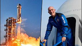 Dar vienas milijardierius pakilo į kosmosą – jo įguloje skridovyriausia visų laikų astronautė