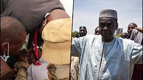 Paviešino šokiruojantį įrašą, kaip vyras su peiliu užpuolė laikinąjį Malio prezidentą