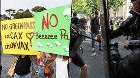 Konfliktas tarp valdžios ir žmonių – pasaulyje vyksta protestai prieš COVID-19 apribojimus