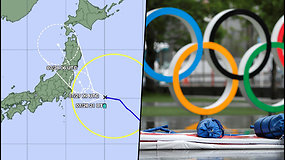 Prie Tokijo artinasi taifūnas – gali sutrikdyti olimpines žaidynes