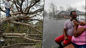 """Uraganas """"Ida"""" padarė """"katastrofiškos"""" žalos Luizianai – gyventojai slėpėsi palėpėse"""