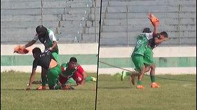Turnyro metu futbolininkus užpuolė bitės – persigandę žaidėjai krito ant žemės