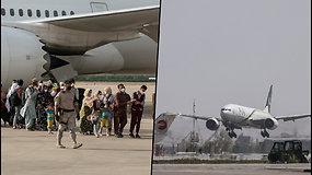 Kabulo oro uostas atnaujino veiklą – surengtas pirmasis skrydis
