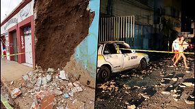 Meksikoje įvyko galingas žemės drebėjimas – sostinėje svyravo pastatai