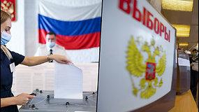 """Rusijoje prasidėjo parlamento rinkimai – prognuozojama, kad """"Vieningoji Rusija"""" išlaikys daugumą"""