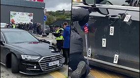 Išpuolis Ukrainoje – užpuolikai apšaudė prezidento patarėjo automobilį