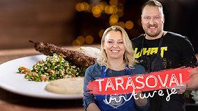 """Arabiškos virtuvės paslaptys """"Tarasovų virtuvėje"""": kaip pasigaminti liuliakebabą, tabulė salotas ir humusą"""