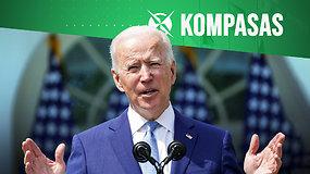 Kompasas: kaip po šimto J.Bideno dienų keičiasi Amerika?