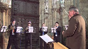 Kalėdų mugė Ulme, vykstanti prie aukščiausios pasaulio bažnyčios