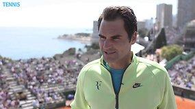 Rogerio Federerio interviu prieš turnyrą Monte Karle