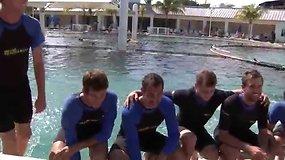 """""""Miami Open"""" dalyviai aplankė delfinariumą Majamyje"""