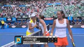 """Italės """"Australian Open"""" dvejetų turnyro finale sustabdė sensacingą australių duetą"""