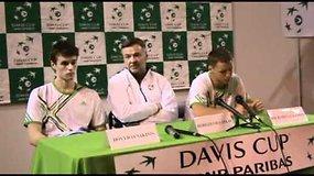 R.Berankio, R.Balžeko ir D.Šakinio komentarai po dvejetų mačo Daviso taurėje Estijoje