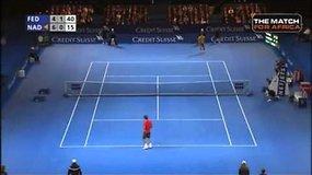 Rogeris Federeris ir Rafaelis Nadalis surėmė raketes vardan labdaros