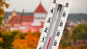 Rekordine spalio šiluma džiaugsimės neilgai: Vėlinės bus šlapios ir vėsios