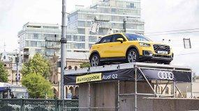 "Parodė, kaip ""Audi Q2"" užkėlė ant Žaliojo tilto Vilniuje"