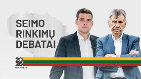 15min Seimo rinkimų debatai: R.Žemaitaitis prieš Z.Jedinskį