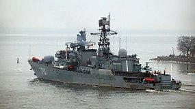 """Rusijos karinis laivas """"Smetlivy"""" apšaudė Turkijos žvejų laivą"""